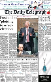 The Daily Telegraph (UK) Newspaper Front Page for 5 November 2019