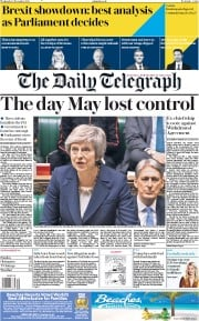 The Daily Telegraph (UK) Newspaper Front Page for 5 December 2018