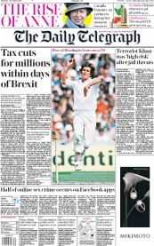 The Daily Telegraph (UK) Newspaper Front Page for 5 December 2019