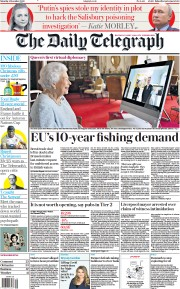 The Daily Telegraph front page for 5 December 2020
