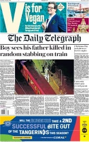 The Daily Telegraph (UK) Newspaper Front Page for 5 January 2019