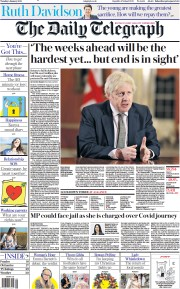 The Daily Telegraph front page for 5 January 2021