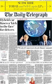 The Daily Telegraph (UK) Newspaper Front Page for 5 February 2020