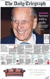 The Daily Telegraph (UK) Newspaper Front Page for 5 May 2017