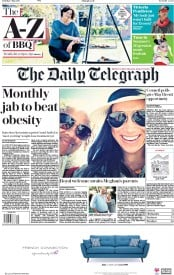 The Daily Telegraph (UK) Newspaper Front Page for 5 May 2018