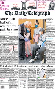 The Daily Telegraph (UK) Newspaper Front Page for 5 May 2020