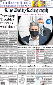 The Daily Telegraph front page for 5 May 2021
