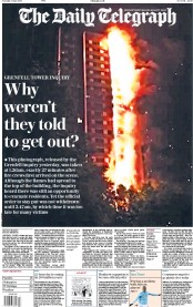 The Daily Telegraph (UK) Newspaper Front Page for 5 June 2018
