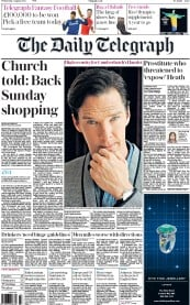 The Daily Telegraph (UK) Newspaper Front Page for 5 August 2015