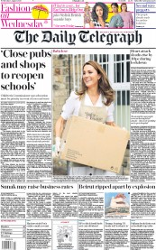 The Daily Telegraph front page for 5 August 2020
