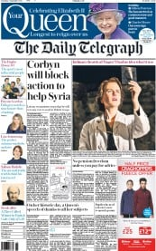 The Daily Telegraph (UK) Newspaper Front Page for 5 September 2015