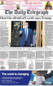 The Daily Telegraph front page for 6 October 2020