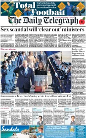 The Daily Telegraph (UK) Newspaper Front Page for 6 November 2017