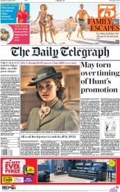 The Daily Telegraph (UK) Newspaper Front Page for 6 January 2018
