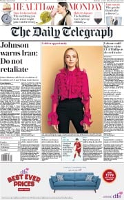 The Daily Telegraph (UK) Newspaper Front Page for 6 January 2020