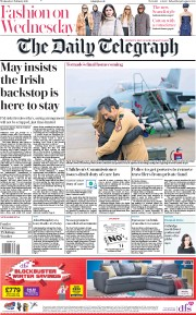 The Daily Telegraph () Newspaper Front Page for 6 February 2019