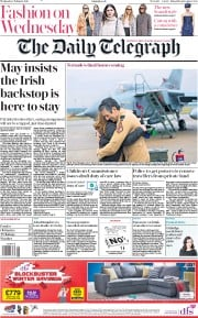 The Daily Telegraph (UK) Newspaper Front Page for 6 February 2019