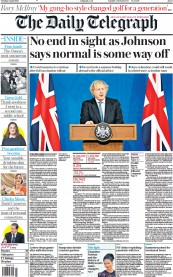 The Daily Telegraph (UK) Newspaper Front Page for 6 April 2021
