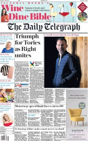The Daily Telegraph (UK) Newspaper Front Page for 6 May 2017