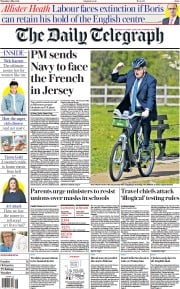 The Daily Telegraph front page for 6 May 2021