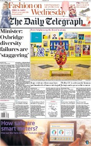 The Daily Telegraph (UK) Newspaper Front Page for 6 June 2018