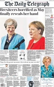 The Daily Telegraph (UK) Newspaper Front Page for 6 July 2018