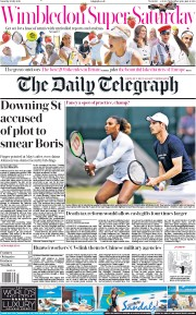 The Daily Telegraph (UK) Newspaper Front Page for 6 July 2019
