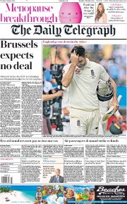 The Daily Telegraph (UK) Newspaper Front Page for 6 August 2019