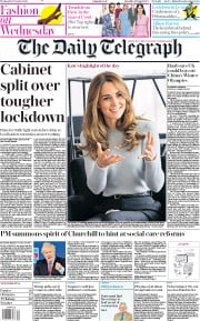 The Daily Telegraph front page for 7 October 2020