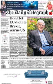 The Daily Telegraph (UK) Newspaper Front Page for 7 November 2017