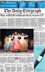 The Daily Telegraph (UK) Newspaper Front Page for 7 December 2017