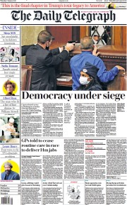 The Daily Telegraph (UK) Newspaper Front Page for 7 January 2021