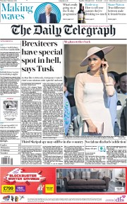 The Daily Telegraph () Newspaper Front Page for 7 February 2019