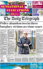 The Daily Telegraph (UK) Newspaper Front Page for 7 April 2018