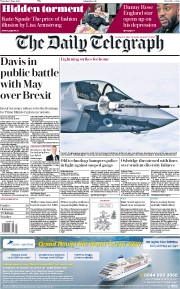 The Daily Telegraph (UK) Newspaper Front Page for 7 June 2018