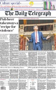The Daily Telegraph front page for 7 July 2020