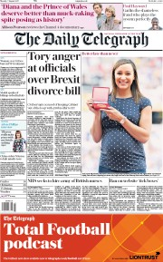 The Daily Telegraph (UK) Newspaper Front Page for 7 August 2017
