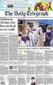 The Daily Telegraph front page for 7 September 2020