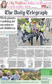 The Daily Telegraph (UK) Newspaper Front Page for 8 October 2019