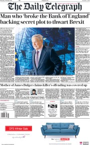 The Daily Telegraph (UK) Newspaper Front Page for 8 February 2018