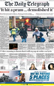 The Daily Telegraph (UK) Newspaper Front Page for 8 April 2017