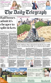 The Daily Telegraph (UK) Newspaper Front Page for 8 May 2018