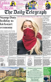 The Daily Telegraph front page for 8 July 2020