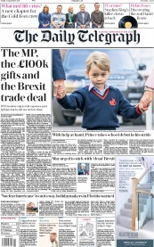 The Daily Telegraph (UK) Newspaper Front Page for 8 September 2017