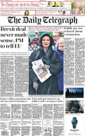 The Daily Telegraph front page for 8 September 2020