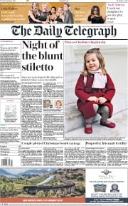 The Daily Telegraph (UK) Newspaper Front Page for 9 January 2018