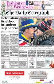 The Daily Telegraph (UK) Newspaper Front Page for 9 January 2019