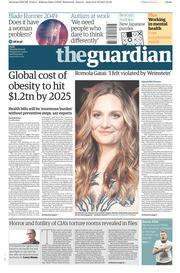 The Guardian (UK) Newspaper Front Page for 10 October 2017