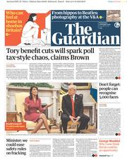 The Guardian (UK) Newspaper Front Page for 10 October 2018