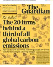 The Guardian (UK) Newspaper Front Page for 10 October 2019